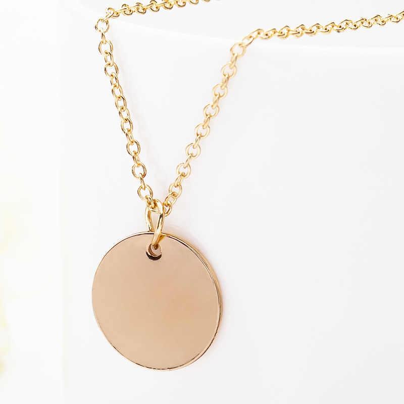 N1081 Minimalist เครื่องประดับ Clavicle เหรียญจี้สร้อยคอผู้หญิง Collares Chain แฟชั่นเครื่องประดับ OL Bijoux ras de cou 2018