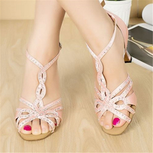 Rhinestone Dance Shoes Pink Ballroom Dance Sandals For Girls Salsa Dance Shoes Woman Latin Dance Shoes