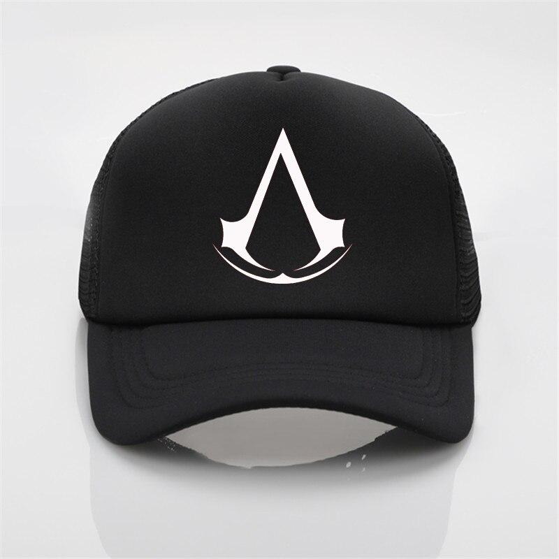 fashion net   cap   Assassins printing   baseball     cap   Men women Summer Trend   Cap   New Youth Joker sun hat Beach Visor hat