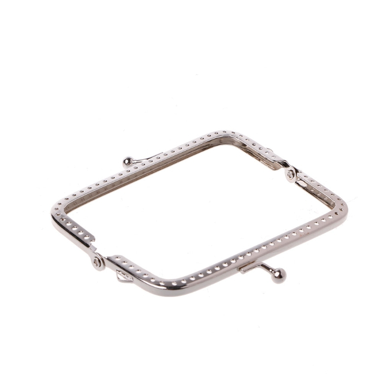 2020 Women Metal Frame Kiss Clasp Arch 8.5cm Handle For Handbag Sewing Holes Clutch Coin Purse Bag Accessories Fashion New