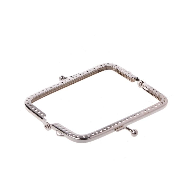 2020 Women Metal Frame Kiss Clasp Arch 8.5cm Handle For Handbag Sewing Holes Clutch Coin Purse Bag Accessories Fashion New
