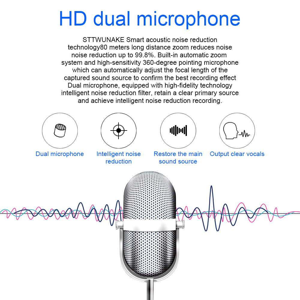 STTWUNAKE Audio Voice Recorder professional Digital Keychain HD Dictaphone Mini hidden denoise long distance HiFi Lossless MP3 in Digital Voice Recorder from Consumer Electronics