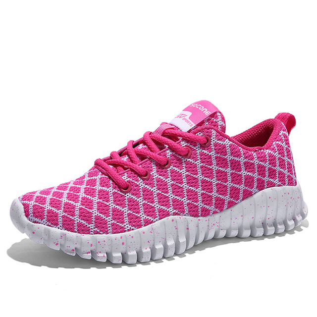 Four Season Air Mesh Women Shoes Breathable Casual Fly Line Shoes Stripe Couple Shoes