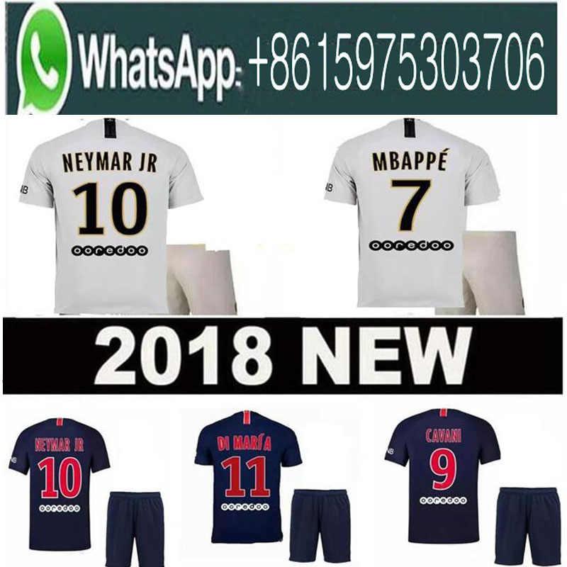 18 19 MBAPPE PSG soccer jersey uniform set 2018 2019 Paris CAVANI saint  germain DANI ALVES f08290244