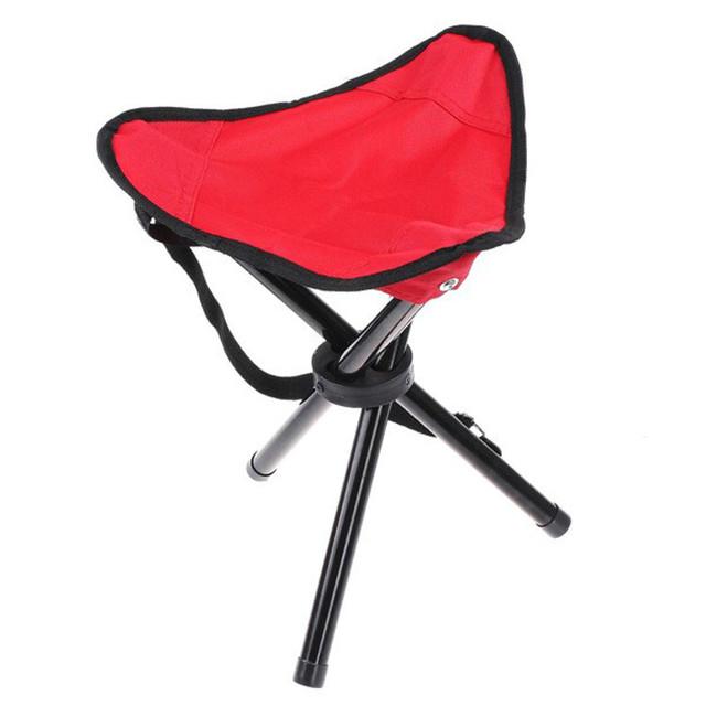 Alta qualidade ao ar livre Camping tripé Folding cadeira de praia portátil cadeira de 3 cores