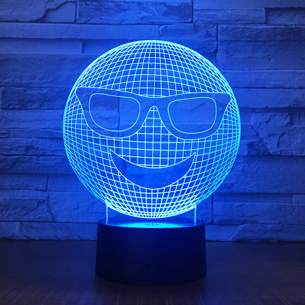 Toys & Hobbies Alert Smiling Face Jack Colorful 3d Illusion Light Led Acrylic Visual Stereo Light Touch Charging Style