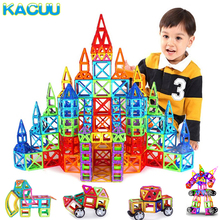 KACUU 135PCS Big Size Magnetic Constructor Set Boys Girls Building Magnets Toy Magnetic Blocks Educational Toys For Children
