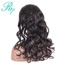 Full Lace Human Hair Wigs For Black Women Loose Wave Brazilian Wig Pre Plucked Front Wig With Baby Hair Riya Remy Hair