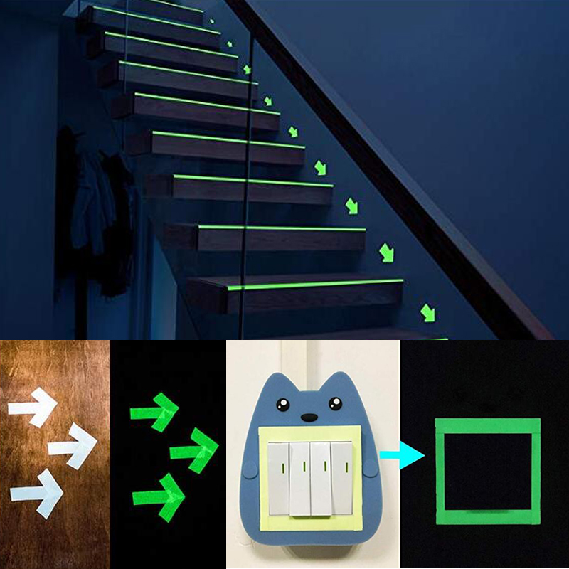 glow in the dark safety stage stickers home decorations self adhesive warning tape night vision wall sticker in Car Stickers from Automobiles Motorcycles