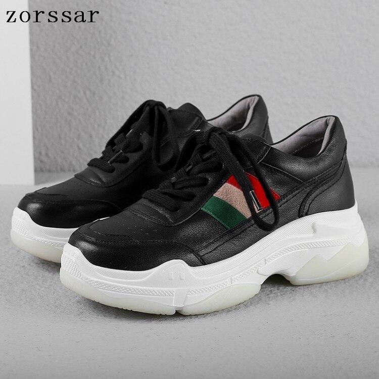 De La Chaussures 2019 Mocassins Plate Respirant Sneakers forme Loisir Plats Confortable Mode Femmes Beige En Véritable Femelle noir Cuir Blanc À Femme qYEt4