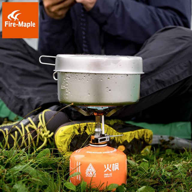 Fire Maple Gas Stove Super Lightweight Mini Pocket Outdoor Cooking Burner Folding Camping Gas Stove 2800W with Ignition