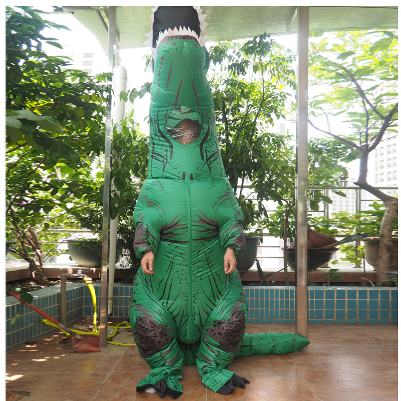 Adult T REX Costume Inflatable Dinosaur Party Costume Suit For Anime disfraces adultos costume Halloween Costumes for Women Men (14)