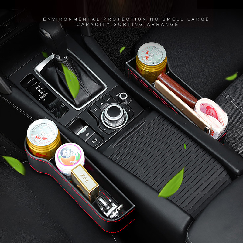 Image 4 - Tefanball Car Seat Crevice Storage Box Grain Organizer Gap Slit filler Holder Wallet Phone Coins Cigarette Pocket Accessories-in Stowing Tidying from Automobiles & Motorcycles