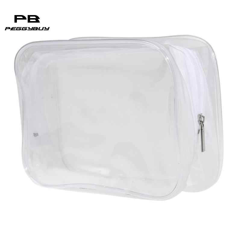 Transparent Cosmetic Bag Women Travel Waterproof Wash Toiletry Bags Makeup Organizer Case for cosmetics make up box necessaries