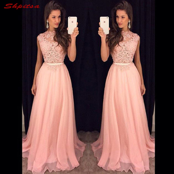 Pink Lace Mother of the Bride Dresses for Weddings A Line Prom Evening Gowns Groom Godmother Dresses
