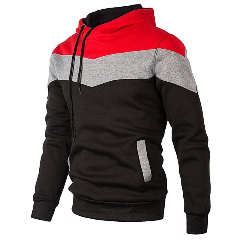 New Autumn 2018 Mens Hoodies and Sweatshirts Patchwork Hoody Men Brand Fashion Mens Tracksuits Sweatshirts Hooded Male Coat