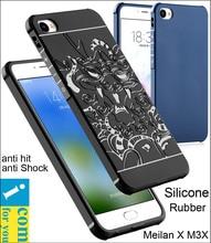 Сопротивление падение Броня анти хит Shock Silicone Case Для Meizu Meilan X M3X 5.5 дюймов 3D резной Дракон Резиновое Покрытие