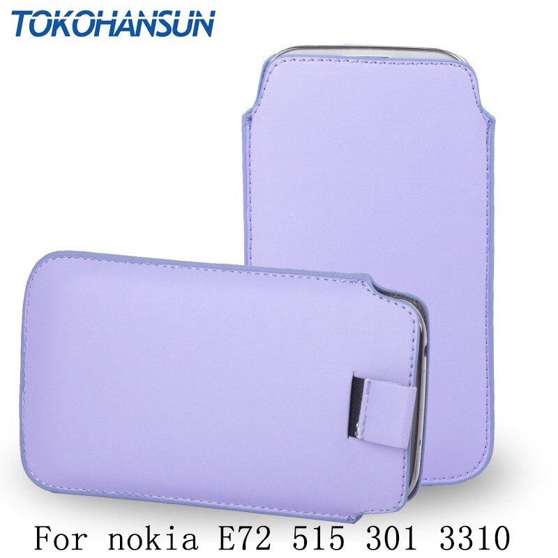 TOKOHANSUN 13 colour 1pcs PU leather pull tab case pouch case for nokia E72 515 301 3310 cover cell phones case TOKOHANSUN Brand