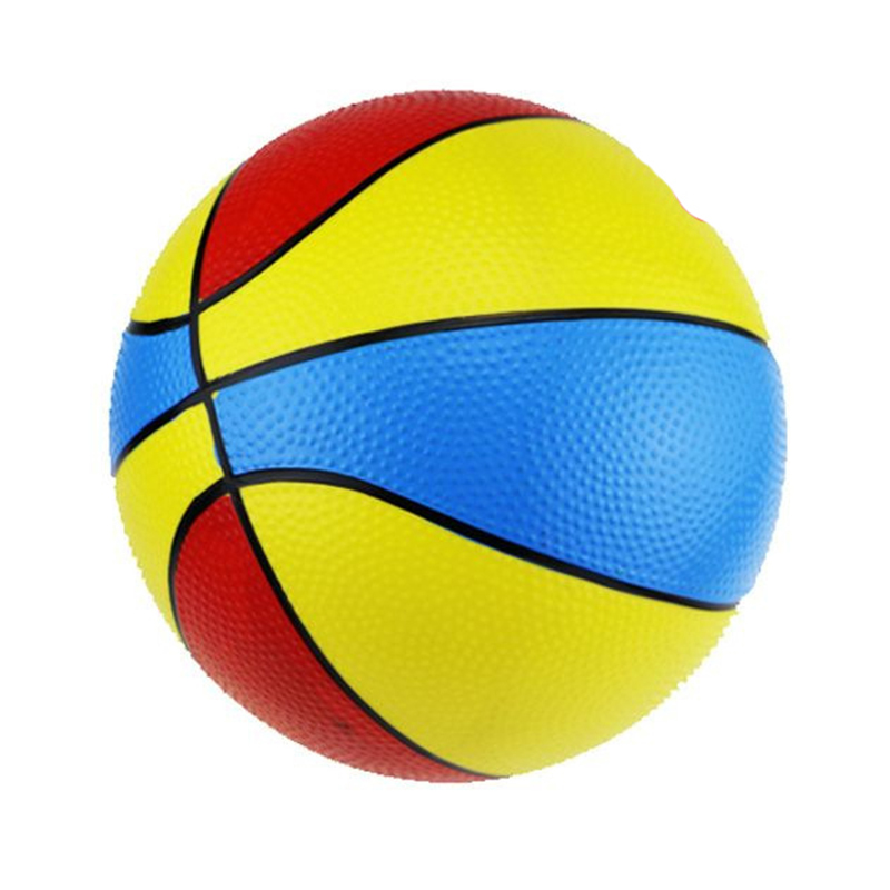Creative 3 Colorful Inflatable Basketball Ball Soft Bouncy Rubber Ball Play Learning Education Toys For Children Kids Baby