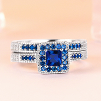 TONGLiN my orders in aliexpress my orders blue womens rings jewelry 2018 women's wedding dainty ring sets all sizes available