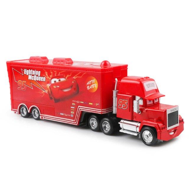 Дисней Pixar Тачки 2 3 игрушки Молния Маккуин Джексон шторм мак грузовик 1:55 литая под давлением модель автомобиля для детей рождественские подарки - Цвет: macqueen 2.0 uncle