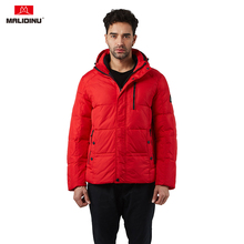 MALIDINU 2019 Down Jacket Men Winter Down Coat 70% White Duck Down Parka Brand Thick Warm Hooded Winter Jacket Red Coat For Men цена