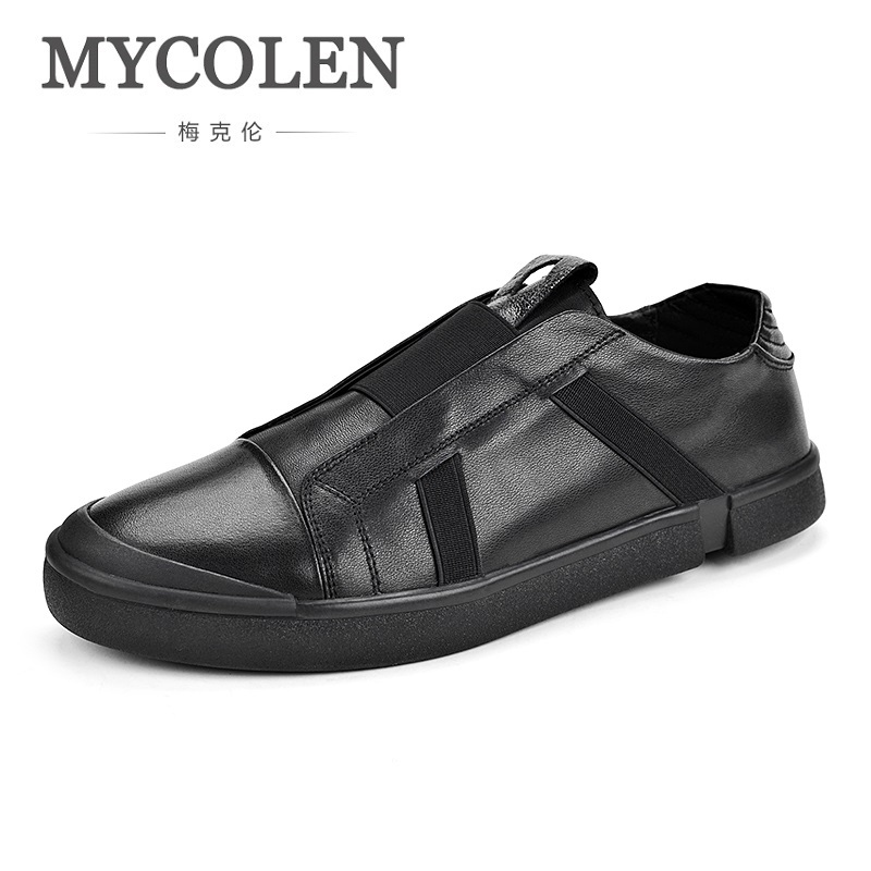 MYCOLEN 2018 New Fashion Mens Shoes Outdoor Men Loafers Walking Shoes Tide Black Casual Man Shoes Chaussures Homme Sport men casual shoes genuine leather man breathable men s shoe fashion flat spring autumn 2017 new mens walking loafers boys