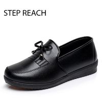 STEPREACH Brand Shoes Woman Women Leather Flats Butterfly Knot Comfortable Sapato Feminino Zapatos Mujer Scarpe Donna