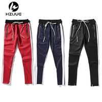 2018 New Fashion 5 Colors Mens And Womens Fear Of God Track Pants Ankle Zip Tapered