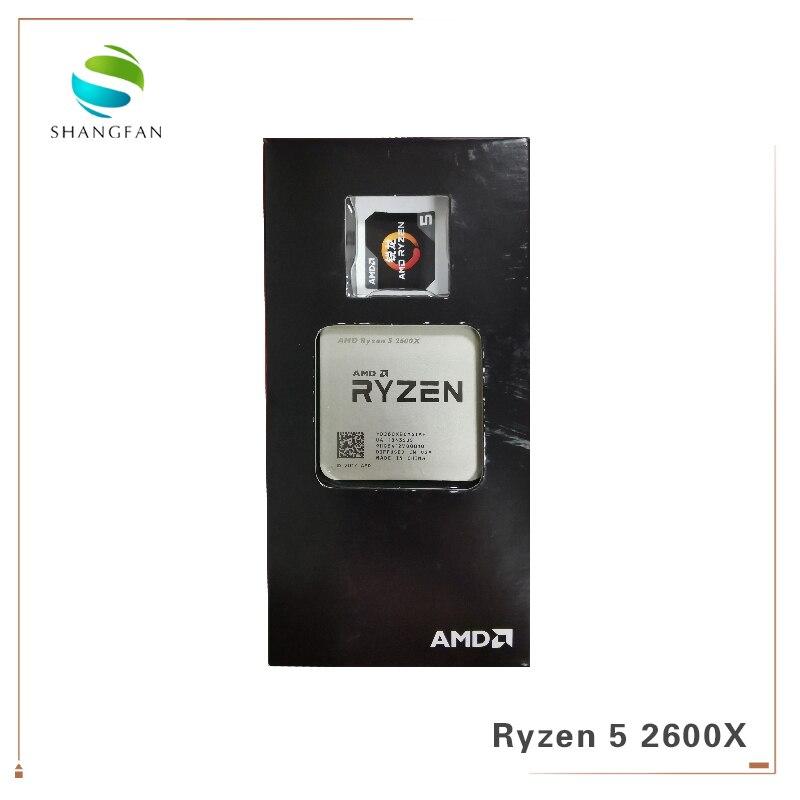 New AMD Ryzen 5 2600X R5 2600X 3.6 GHz Six-Core Twelve-Thread 95W CPU Processor YD260XBCM6IAF Socket AM4