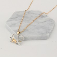 Popular necklace female fashion cute animal elephant pendant jewelry wholesale