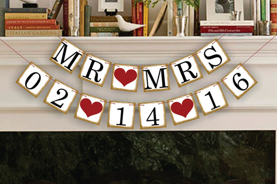 1 X Customized Date Banner Save The Date Wedding Sign Birthday Party Decoration Supplies Hang Flag High Quality And Inexpensive