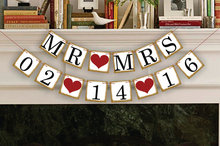 1 X Customized Date Banner Save The Date Wedding Sign Birthday Party Decoration Supplies Hang Flag