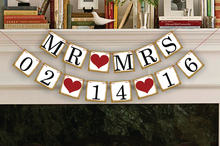 1 x personalizado data banner salvar a data sinal de casamento festa de aniversário decoração suprimentos pendurar bandeira