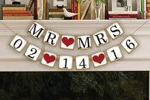1 × カスタマイズ日付バナーを保存日付結婚式の記号誕生日パーティーの装飾用品旗