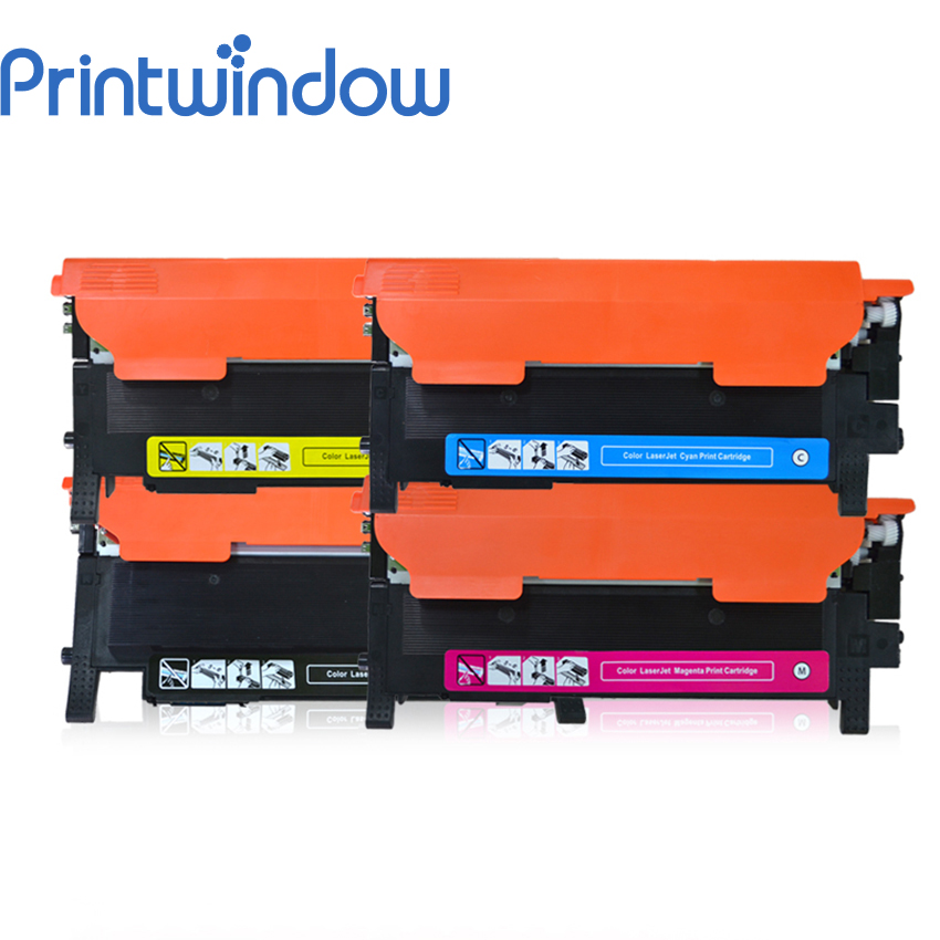 Printwindow Compatible Toner Cartridge CLT-407S for Samsung CLP-320/320N/325/325E CLX-3180/3185/3185FN/3185FW/3185N 4X/Set toner for samsung mltd 205e see for samsung mlt d2052 e xil d205 s oem reset photocopier cartridge free shipping