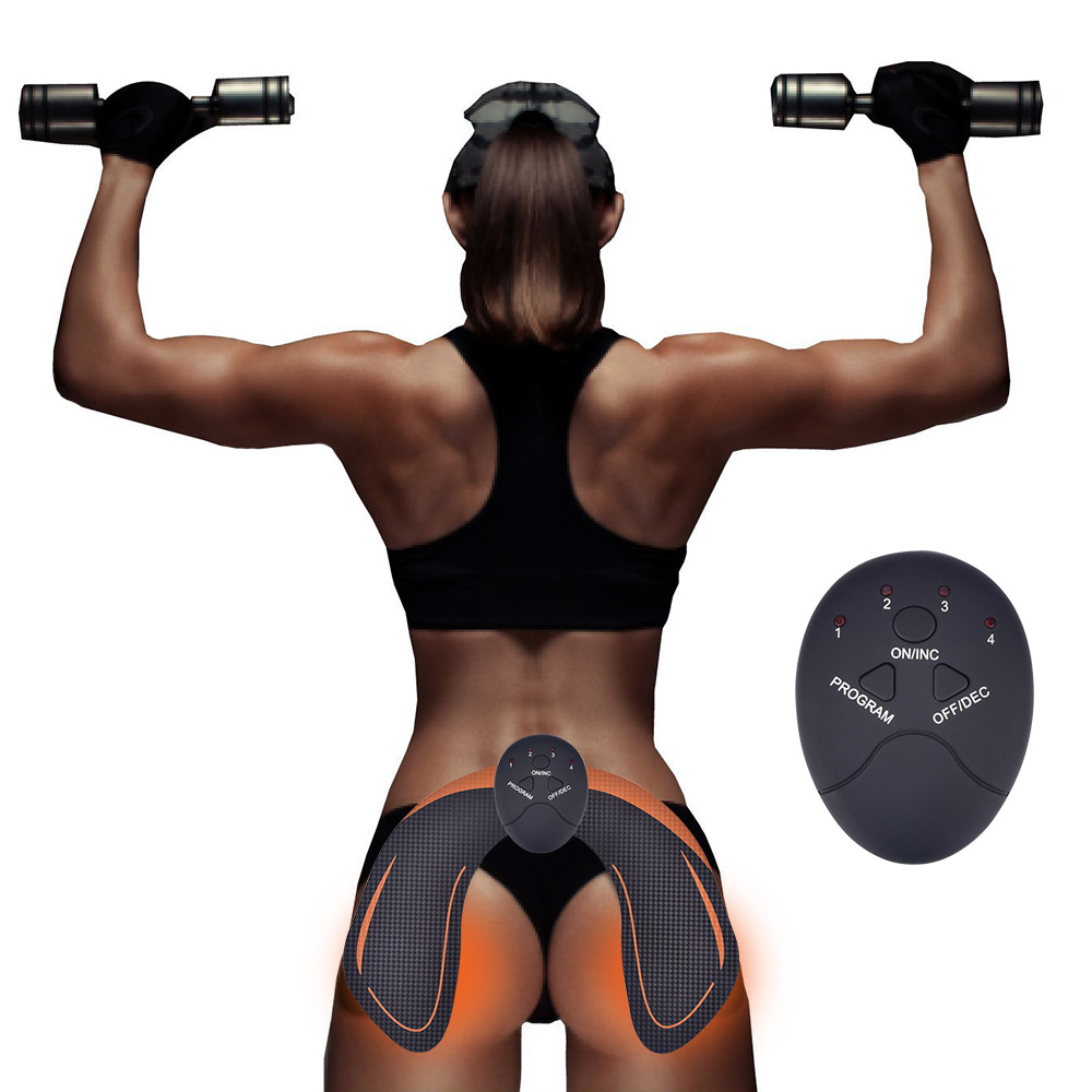Smart EMS Hips Trainer Electric Muscle Stimulator Wireless Buttocks Abdominal ABS Stimulator Fitness Body Slimming Massager 3