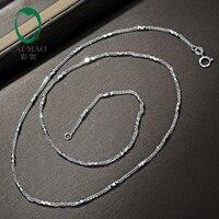 Caimao дамы AU750 одноцветное 18ct белого золота цепи 18 около 45 см Цепочки И Ожерелья Любовь лучший подарок для женщин