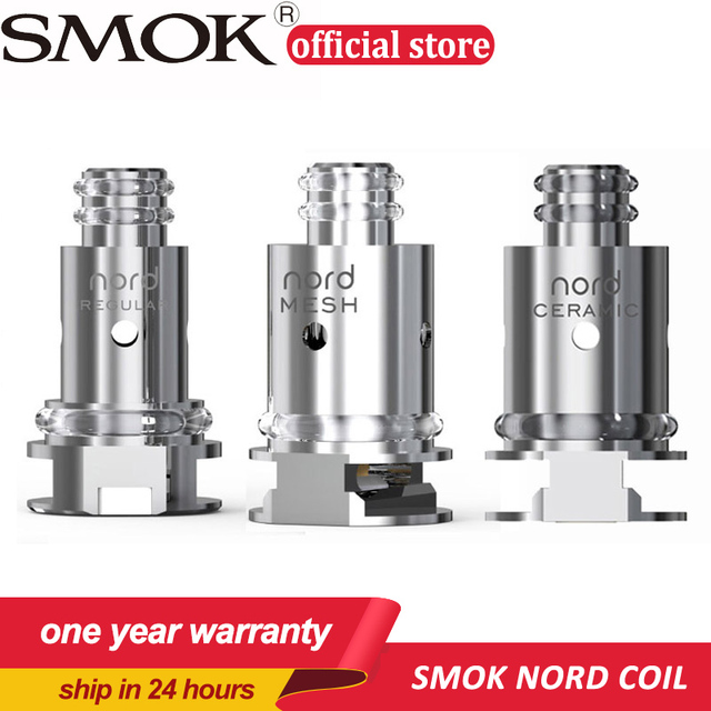 Original 5pcs SMOK Nord Replacement Coil with Regular 1 4ohm Coil and  0 6ohm Mesh Coil for SMOK Nord KIt Electronic Cigarette