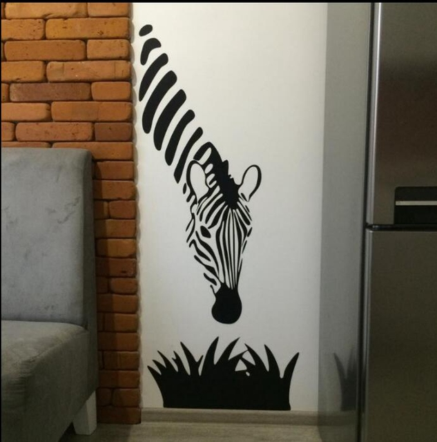Free Shipping Zebra Wall Decals Modern Art Decoration For Your Kitchen  Bedroom Or Livingroom , Zebra