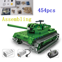 454Pcs Camouflage RC Tank Model Electric Remote Control Tank Toys For Children Boys Birthday Gifts Learning Toy Electronic Games