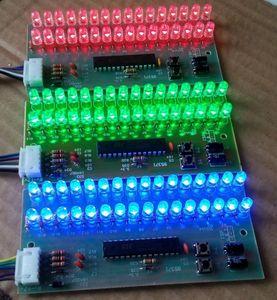 Image 2 - RGB Color MCU Có Thể Điều Chỉnh Mô Hình Hiển Thị LED Mức VU Chỉ Số 16 LED Kép Kênh miễn phí vận chuyển