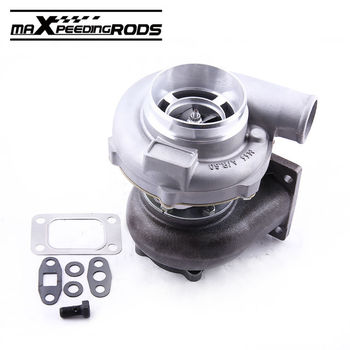 GT30 GT3037 GT3076 Turbo Turbocharger T3 Flange Water Oil Upgrade Journal bearing for 3.0-5.0L 6 8 cyl 0.6 0.82 a/r Compressor