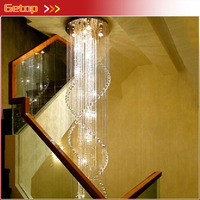 Best Price Modern Deluxe Villa Staircase Hotel Lobby Double Staircase K9 Crystal Chandelier LED Lustres Crystal Lamp Lighting