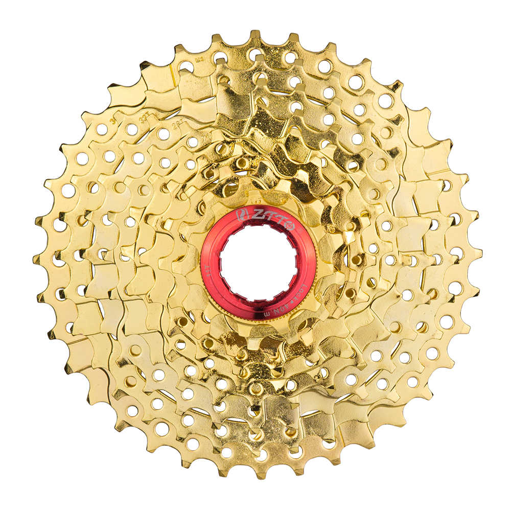 9 Speed 11-36T MTB Gold Freewheel Cassette Mountain Bike Bicycle Parts 9s 27s Speed Compatible for Parts M370 M430 M4000 M590