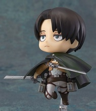 Attack on Titan #390 Q Version Nendoroid Levi Rivaille Figure Toy 4″ 10cm