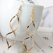 Triangle Silver Gold Color Geometric Zinc Alloy Trendy Elegant Hanging Drop Dangle Earrings for Women elegant triangle alloy shirt collar tips necklace silver
