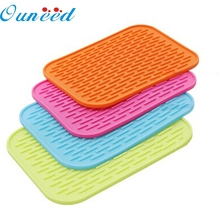 Ouneed Top Grand  Non-Slip Heat Resistant Mat Coaster Cushion Placemat Pot Holder Table Silicone Mat Kitchen Accessories