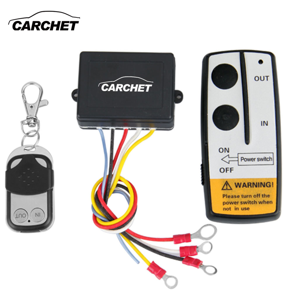 CARCHET Winch 12V 12 Volt Wireless Remote Control Kit for Jeep Truck ATV Winch WINCH Dual Remote High Quality Switch Handset jinshengda remote control 24v universal wireless remote control kit handset for truck jeep atv suv winch warn ramsey