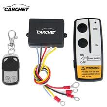 Carchet winch 12 v kit de control remoto inalámbrico de 12 voltios para Jeep Truck ATV Cabrestante CABRESTANTE Doble Interruptor Remoto de Alta Calidad auricular